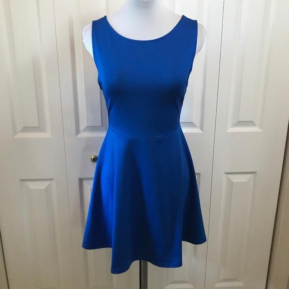 13f7e929b252 Divided Dresses & Skirts - H&M Divided Royal Blue Skater Dress Deep ...